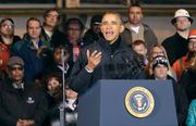 President Obama speaks at the U.S. Steel Corp. Irvin Plant in West Mifflin.