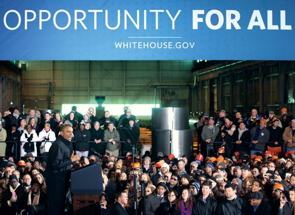 President Obama speaks at the U.S. Steel Corp. Irvin Plant in West Mifflin in January.