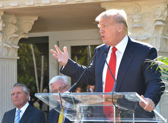 Donald Trump was on hand in Doral to unveil the first of eight deluxe guest rooms.