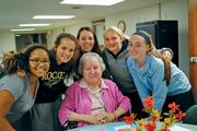 Mount Notre Dame High School has an Adopt-A-Sis program, with more than 100 students participating. Students visit and share experiences with the nuns who live next to the school.