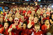 Louisville held on late Monday to secure an 82-76 victory over Michigan in the NCAA championship game at the Georgia Dome in Atlanta.