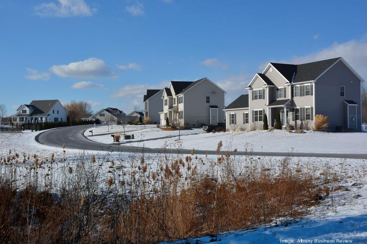 Marne Street, off Boght Road in the town of Colonie, NY. This subdivision is emblematic of a prosperous middle-class region.