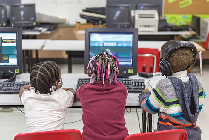 John Eager Howard Elementary in West Baltimore still relies on outdated computers. Some machines are too old to even use.