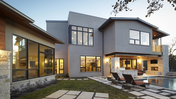 """Chris Davenport of Cornerstone Architects designed this house at 314 Ridgewood Drive, employing a """"Y""""-shaped concept to preserve views and create privacy. Click on the image to launch a slideshow of photos of homes on this year's Austin contemporary homes tour."""