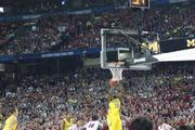 Michigan's Tim Hardaway Jr. goes up for a shot in the second half of Monday's championship game.