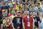 After falling behind early, Louisville fans were able to begin  smiling as their team rallied before halftime and eventually took control in the second half.
