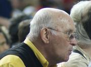 Former WSU President Don Beggs was among the Shocker faithful who came back for the title game Monday night.