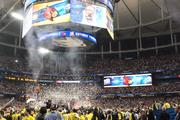 The party starts in the Georgia Dome as Louisville is crowned the 2012-2013 NCAA mens basketball national champions.