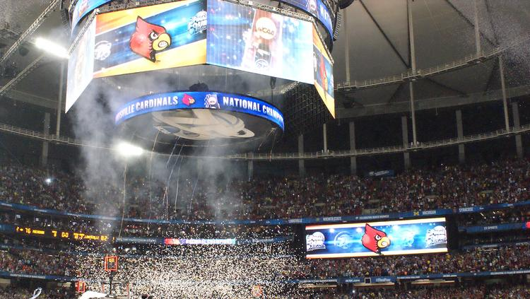 The party started in the Georgia Dome as Louisville wass crowned the 2012-2013 NCAA mens basketball national champions.