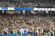 Some Wichita State fans made it back to the Georgia Dome for Monday's national championship game. This section, however, was all black and gold on Saturday.
