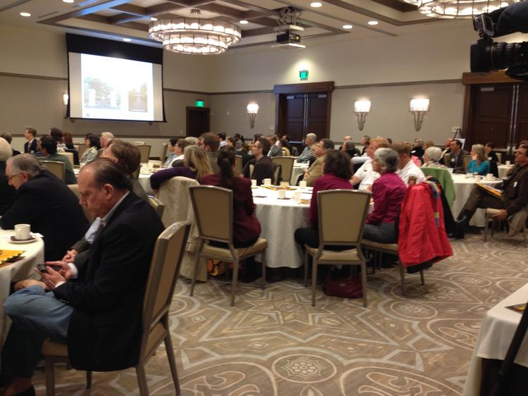 Business people and city officials gathered at The Alfond Inn on Jan. 30 to get updates and details on how SunRail can benefit them and their employees.