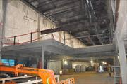 A new extension of the second level is under construction to expand the security checkpoint.