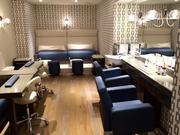 Embury Spa has a separate room for nails and hair. It offers manicures, pedicures, makeup application, hairstyling, and shampoo and blow-dry service.