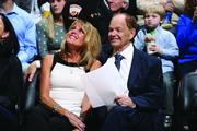 Glen Taylor and his wife, Becky, at a Timberwolves game in 2013.