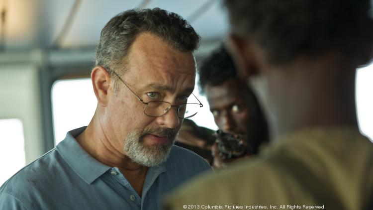 """Tom Hanks, shown here in """"Captain Phillips,"""" is among the Hollywood stars backing Alison Lundergan Grimes' challenge to Senate Minority Leader Mitch McConnell in Kentucky."""