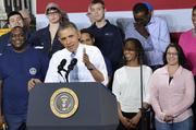 Obama spoke about worker training programs, raising the minimum wage and more Thursday.