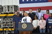 """Most folks' wages haven't gone up in over a decade,"" Obama said. ""Too many Americans are working harder just to get by, let alone get ahead."""