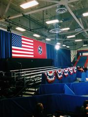 The backdrop for Obama's speech.