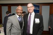 Presenting sponsor Carlton Johnson, Archer & Greiner, P.C., with another Power Party guest.