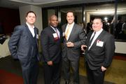 40 Under 40 Alum Terrence Barclift, Bank of America and Steven Wittenberg, SEI (Centered) reunite and mingle with other guests.