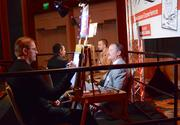 Guests were lined up all evening for a shot at artistic immortality at the caricature experience.