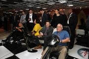 Reeves' interactive driving experience was a hit at the party.