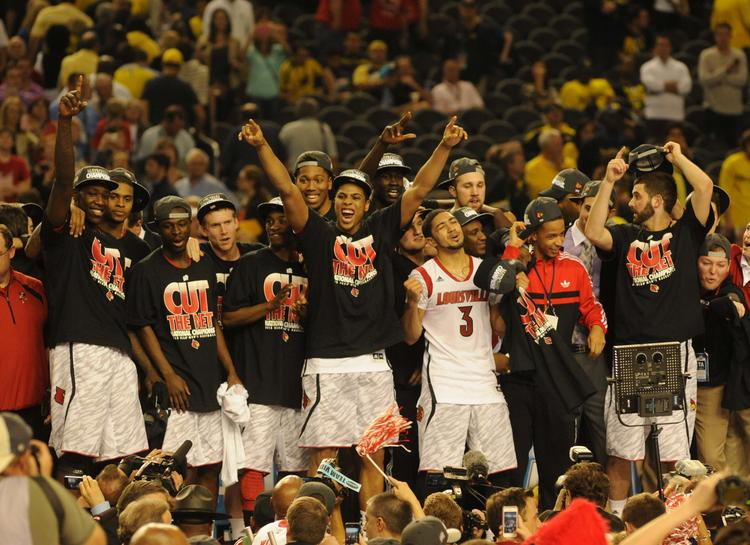 Louisville secured an 82-76 victory over Michigan in the NCAA championship game at the Georgia Dome in Atlanta.