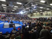 The crowd waiting for President Obama Thursday at McGavock High School.