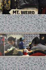 Mt. Weird and Grenade join forces in a display at the SIA Snow Show at the Convention Center.