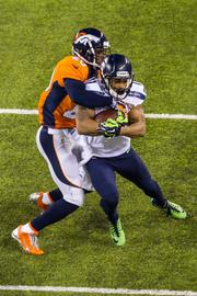 The Seattle Seahawks defeated the Denver Broncos 43-8 in Super Bowl XLVIII, played Feb. 2, 2014, in New Jersey's MetLIfe Stadium.