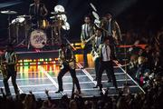 Halftime entertainer Bruno Mars and his band.