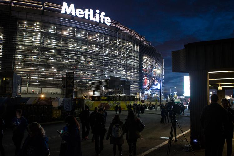 MetLife Stadium just before kickoff. The Seattle Seahawks beat the Denver Broncos 43-8 in Super Bowl XLVIII, played Feb. 2, 2014 at New Jersey's MetLife Stadium.