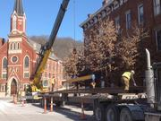 More rail was delivered near the intersection of Henry and Race streets.