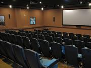 The new North Block building a movie theater that can also be used for staff training and meetings.