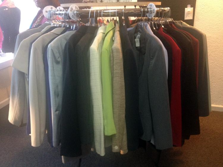 Blazers are among the items offered at 925 Boutique, a nonprofit store at 216 Douglas Blvd. in Roseville.
