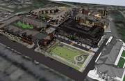 The Promenade of Wayzata project includes more apartments, retail, a condominium building and a hotel. The first two buildings, on the top and top-right of this rendering, are built and open.