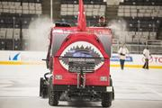 The Zamboni resurfaces the ice, cleansing the sins of the night before.