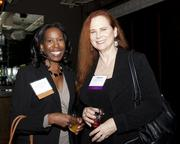 Ennette Morton of Pepperdine University and State Assembly District 73 candidate Anna Bryson pose at the California Women Lead legislative welcome reception.