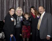 Cynthia Moore of Cynthia Moore Public Affairs and Communications Consulting, Assemblywoman Connie Conway, Judith Larson of Larson and Associates, Fiona Ma of California Women lead and Assemblyman Katcho Achadjian pose at the California Women Lead legislative welcome reception.