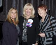 Liz Figueroa of Planned Parenthood, Assemblywoman Connie Conway and Kit Wall of Kit Wall Productions pose at the California Women Lead legislative welcome reception.