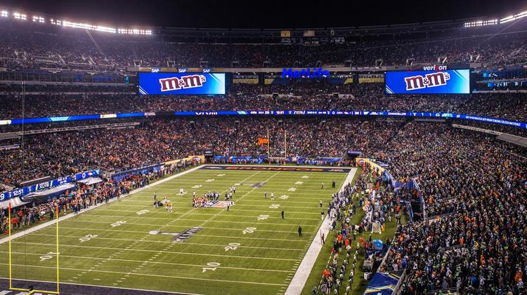 The Super Bowl game between Denver and Seattle at MetLife Stadium in East Rutherford, N.J.