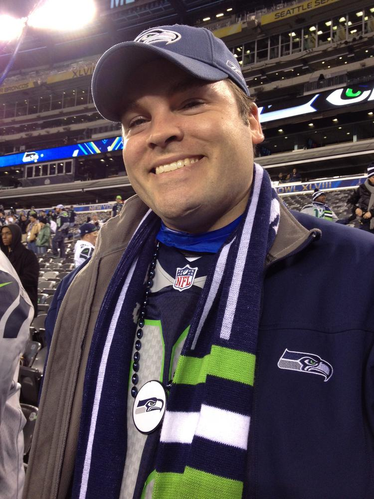 Ryan Broms had a touching errand at Super Bowl XLVIII. He brought some ashes of his father-in-law's late mother, Sally Skinner Behnke, to scatter on the field at MetLife Stadium in New Jersey. She was a longtime football fan.