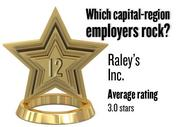 No. 12. Raley's Inc., with an average rating on Glassdoor.com of 3.0 stars (of 5.0 possible) from 63 employees worldwide. It has 7,283 employees in the Sacramento region.