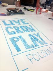 This is an example of a slogan at Monday's Brandathon: Live Grow Play.