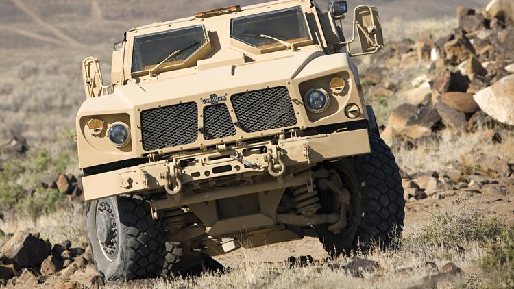 Specialty truck manufacturer Oshkosh Corp. makes all-terrain trucks for the U.S. military.