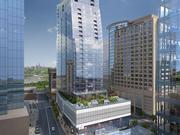The JBG Cos. has formed a joint venture with the State Teachers Retirement System of Ohio to develop Central Place, a 31-story mixed-use project to be developed across North Moore Street from the Rosslyn Metro Station. It broke ground Wednesday.