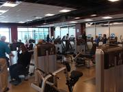 The Memphis Kroc Center Fitness Center's cardio and weigh equipment.