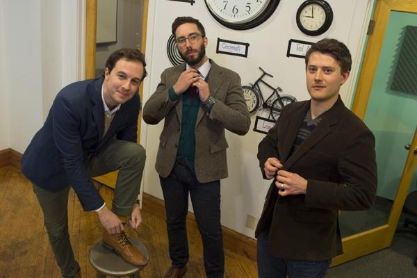 Blake Smith, left to right, Chris Merchich and Tim Brunk are the co-founders of Cladwell.