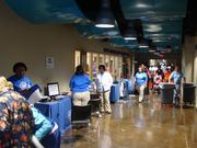 Baptists Healthcare held free health screenings during the the Memphis Kroc Center's open house.