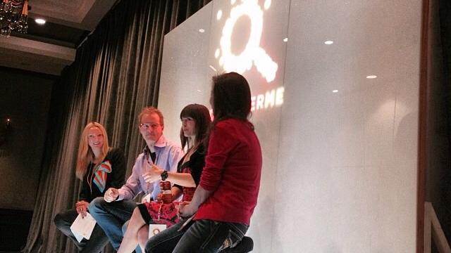 Andy Stack and Olga Kay (pictured center) discuss making a living off of YouTube